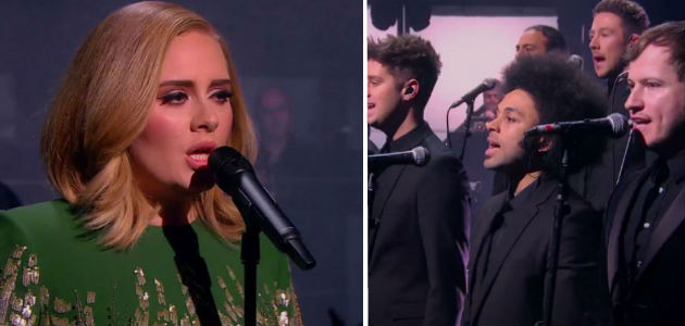 Adele & Chris performing on the BBC